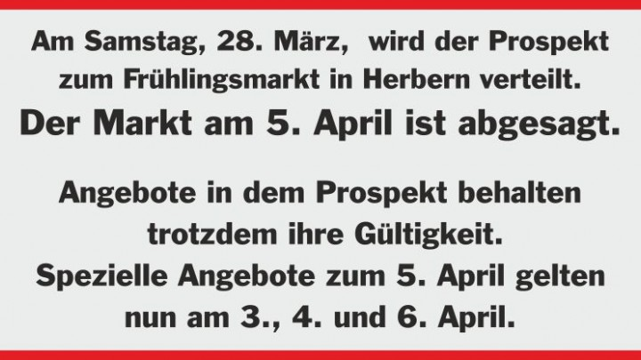 Prospekt Verteilung FrühlingsMarkt